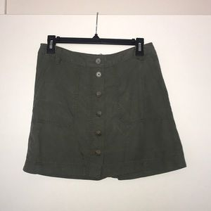 Gap- high waist army green mini skirt